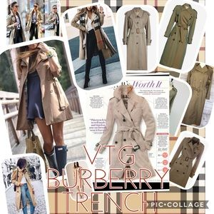 Burberry Jackets & Coats - 💥1 HR SALE💥LAST CHANCE💥VTG BURBERRY TRENCH COAT